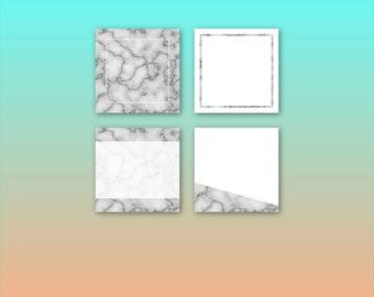 Marble Instagram Template Pack | Instaquotes, Social Media Design, Social Branding, Instagram Design | Instant Download