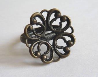 Antique bronze 20 mm Adjustable ring blank