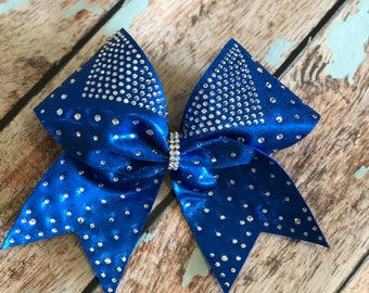 Rhinestone Cheer bow You Pick Your Colors