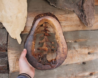 Wooden Tree Carving, Hand Carved Sculpture