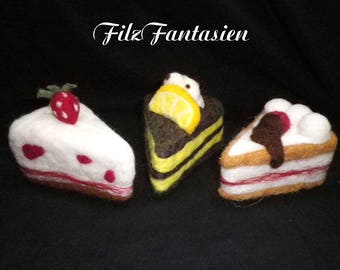 Felted pincushion, cake, felted cake, needle felted decoration, table decoration, felt pincushion, decorative cake