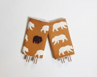 ORGANIC Drool Pads - Lillebaby Tula Beco Ergo // Orange Bear Hike