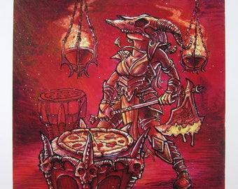 Pizza Cult — Slicer — giclée print