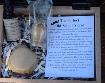 Shaving Soap Gift Set - Mens Gift Basket Set - Shaving Gift Box - Fathers Day Gift - Spa Gift - Gift for Him - Father's Day - Birthday Gift