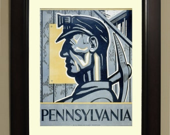 Pennsylvania WPA Poster - 3 sizes available, one price.