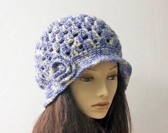 Hat Crochet Pattern, 1920's Cloche Pattern, Instant Download, Hat PDF  Pattern, Flower Cloche Hat Pattern,