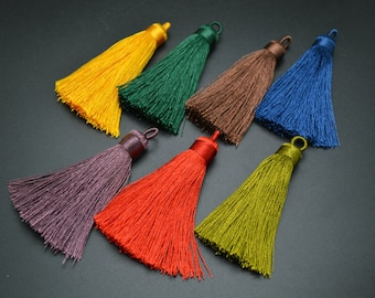 30pc Mix Bright color 60mm Length Beautiful Tassels