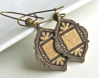 Brass Arabian Earrings - Moroccan