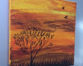 Acrylic Painting Canvas/Magnet Art/Mini Artwork/Original Magnet
