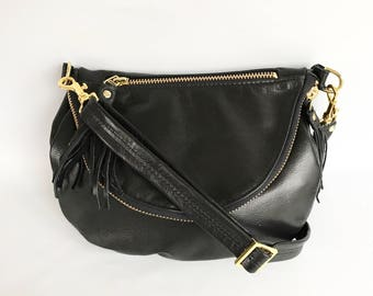 Alberta leather bag in black