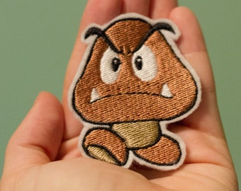 Goomba -- Iron-on Nintendo patch from Super Mario Brothers NES game