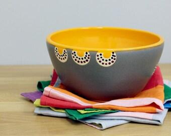 Orange Keramik Schüssel, Suppenschüssel, Müslischale, Salatschüssel, moderne Schale Hand geworfen Keramikschale von Nstarstudio