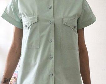Green Shirt / Mint / 100% Cotton / Spring / Summer