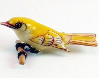 Takahashi Yellow Warbler Bird Pin