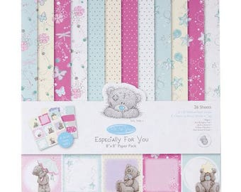 Set of 26 paper two pockets 20 cm + labels to peel ME TO YOU