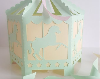 Great decoration for party-carousel - Godfather godmother theme - table box