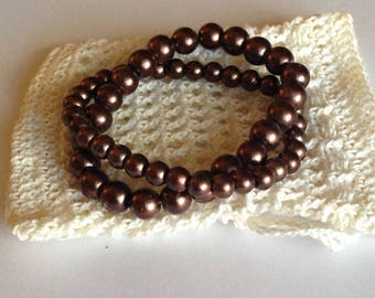 Crochet Soap Saver Drawstring Bag Gift Pouch White