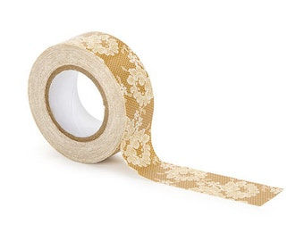 Lace tape David Tutera Duct Tape - Lace - .98 inch x 10 yards  duck tape craft supplies findings adhesive wedding