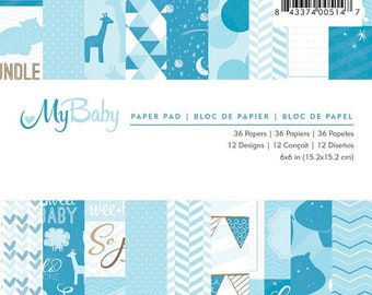 American Craft My Baby Boy 6x6 Paper Pad