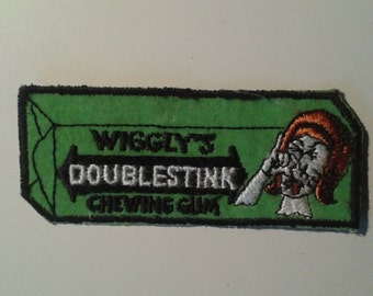Vintage Wiggly's Doublestink Chewing Gum Embroidered Patch
