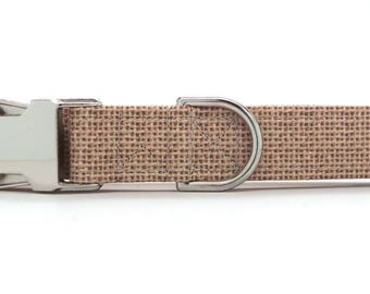 Burlap Pet Collar (Martingale, Buckle, or Tag)