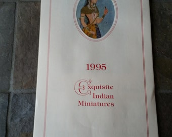 Exquisite East Indian Miniatures Calendar 1995  Can be Reused in 2023 2034 2045