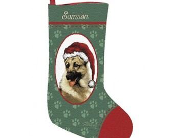 German Shepherd Dog Personalized Christmas Stocking