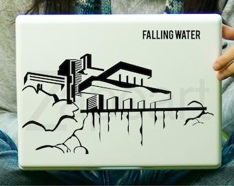 Frank Lloyd Wright FALLING WATER Sticker Decal Laptop Decal iPad