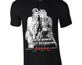 David Bowie 'Ziggy Stardust - Hammersmith Odeon' screen printed T Shirt