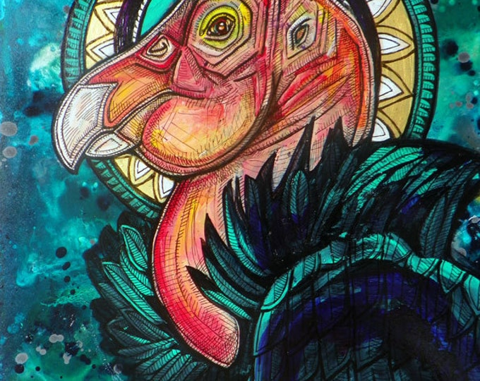 California Condor King Icon Art Print by Lynnette Shelley
