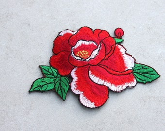 Red Pansy Embroidered Applique Hair Clip // Flower Hair Accessories // Gifts for Her // Festival Wear // Colorful Flower Clip //