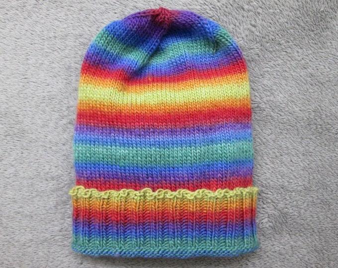 Knit Pride Hat - LGBT Rainbow - Wool Gradients
