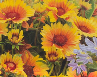 The Yellow Flowers, Print from Original Oil Painting