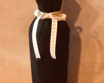 Black Sweater Knit Bottle/Gift Bag