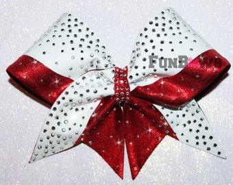 Gorgeous  Glitter and  rhinestone cheer bow by FunBows ! - Customize This !