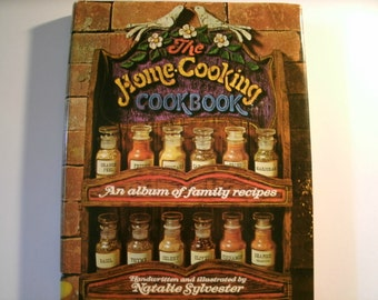 The Home Cooking Cookbook, Album of Family Recipes, Handwritten, Vintage 1970s, Natalie Sylvester, 1972