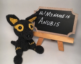Ancient Egyptian God Anubis Stuffed Animal - Anubis Toy - Anubis Plush - Handmade Stuffed Animals - Egyptian Decor - History Teacher Gift