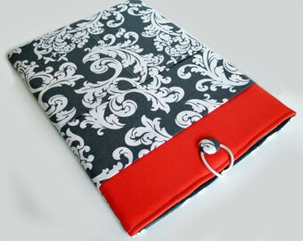 Macbook Air Case, Macbook Air Sleeve, 13 inch Macbook Air Cover, 13 inch Macbook Air Case, Laptop Sleeve, Coral and Gray