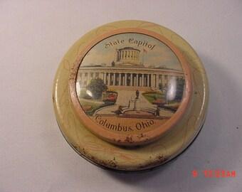 Vintage State Capitol Columbus Ohio Tin   16 - 458