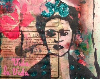 Lino print Frida