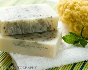 Vegan Soap - Rosemary Mint Soap - Rosemary Soap - Peppermint Soap - All Natural Soap - Cold Processed Soap with CERTIFIED SUSTAINABLE palm.