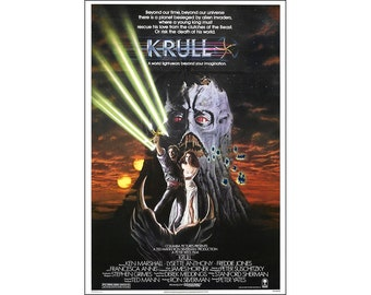 Krull Movie Poster Print - 1983 - Science Fiction - One (1) Sheet Artwork