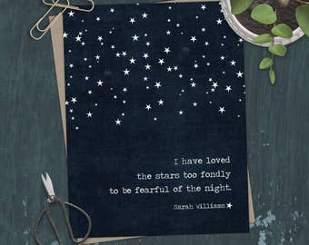 I Have Loved the Stars Too Long Greeting Card Fearful of the Night Quote Greeting Card