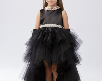 Ruffled Tulle High/Low Dress