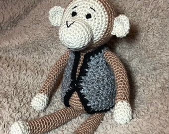ADD ON ITEM - Doll/toy waistcoat to fit Little Gems Crochet 30cm toys