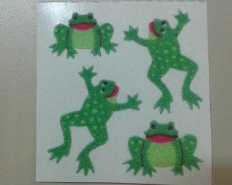 Sandylion Stickers Fuzzy Green Frogs, Frog  (1 mod)