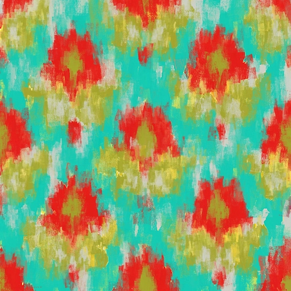 """Ikat K11. Geometrical Abstract Art, Wall Decor, Extra Large Abstract Colorful Contemporary Canvas Art Print up to 48"""" by Irena Orlov"""