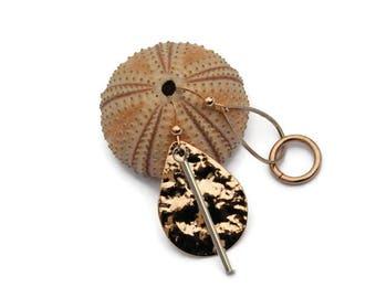 Asymmetrical earrings, Hammered earrings, Mismatched earrings, Asymmetric, Rose gold jewelry, Silver earring, Bridal earrings, For her, UD9