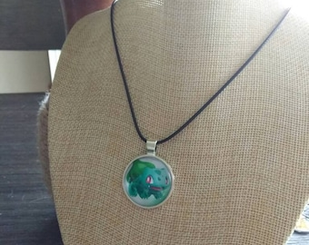 Pokemon Bulbasaur necklace and pendant