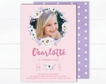 1st Birthday Invitation Girl | Girl Birthday Invitation | Digital Invitations | 2nd Birthday Invite